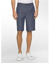 CALVIN KLEIN 205W39NYC - Jeans Mini Diamond Print Bermuda Shorts - Lyst