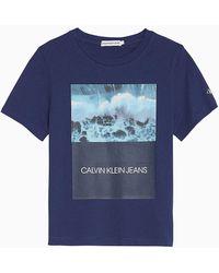 Calvin Klein Camiseta con estampado fotogr�fico - Azul