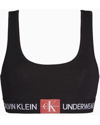 Calvin Klein Unlined Monogram Bralette - Zwart