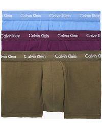 Calvin Klein 3er-Pack Hft-Shorts Cotton Stretch - Blau