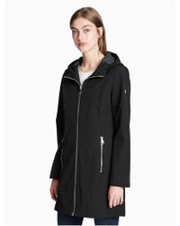 Calvin Klein Soft Shell Hooded Walker Jacket - Black