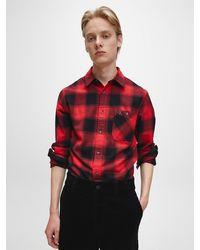 Calvin Klein - Geruit Overhemd Van Gerecycled Katoen - Lyst