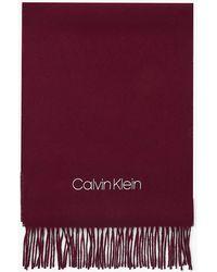 Calvin Klein Charpe en laine - Violet