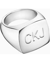 Calvin Klein Anillo unisex - Club - Metálico