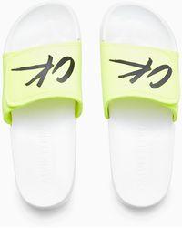 Calvin Klein Sliders - Ck Wave - Wit