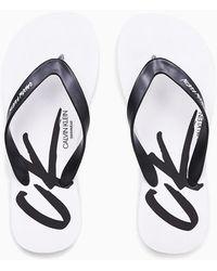 Calvin Klein Slippers - Ck Wave - Wit