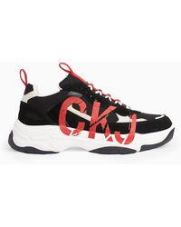Calvin Klein Leren Chunky Sneakers - Meerkleurig