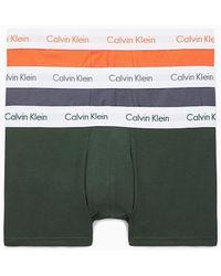 Calvin Klein Set Van 3 Lage Boxershorts Van Stretchkatoen - Rood
