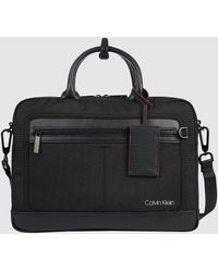 Calvin Klein Laptoptas Van Gerecycled Nylon - Zwart