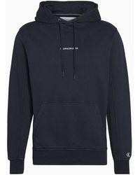 Calvin Klein Badstofkatoenen Hoodie - Zwart