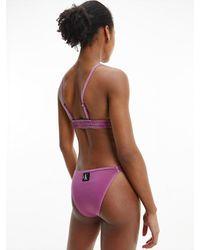 Calvin Klein High Leg Bikinihose - CK Authentic - Lila