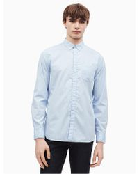 Calvin Klein - Striped Button Down Shirt - Lyst
