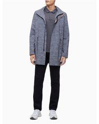 Calvin Klein Reflective Camouflage Zip Hooded Jacket - Blue