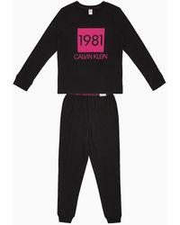 Calvin Klein Pyjamaset Met Broek - 1981 Bold - Zwart