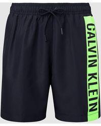 Calvin Klein - Medium Zwemshort Met Trekkoord - Lyst