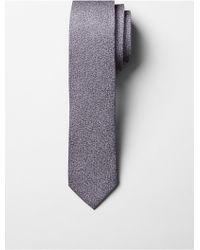 CALVIN KLEIN 205W39NYC - Refined Grid Slim Silk Tie - Lyst