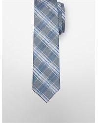 Calvin Klein - Slim Crystal Plaid Tie - Lyst