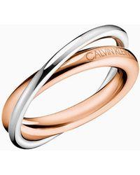 Calvin Klein Ring - Double - Metallic
