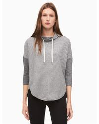 CALVIN KLEIN 205W39NYC - Performance Cowl Neck Striped Hoodie - Lyst