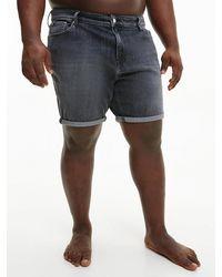 Calvin Klein Plus Size Denim Shorts - Black