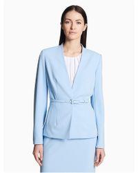Calvin Klein   Scuba Belted Jacket   Lyst