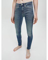 Calvin Klein Mid Rise Skinny Jeans - Blue