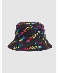 Calvin Klein Unisex Bucket Hat Met Logo - Pride - Zwart