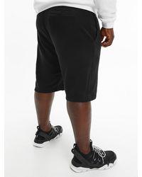 Calvin Klein Plus Size Organic Cotton Jogger Shorts - Black