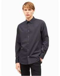 Calvin Klein - Classic Fit Non-iron Ministripe Cotton Shirt - Lyst