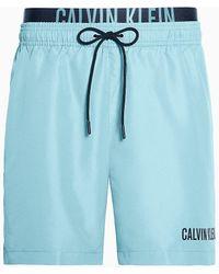 Calvin Klein Medium Zwemshort Met Dubbele Tailleband - Intense Power - Blauw