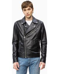15ece95d5 Leather Biker Jacket - Black