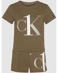 Calvin Klein Pyjama Met Short - Ck One - Meerkleurig