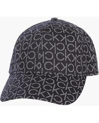 Calvin Klein Logo-Kappe aus Bio-Baumwolle - Schwarz