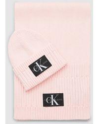Calvin Klein Muts En Sjaal Cadeauset - Roze