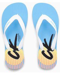Calvin Klein Slippers - Ck Wave - Blauw