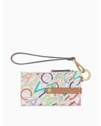 Calvin Klein Multi-color Logo Zip Card Case - Multicolor