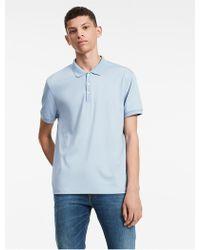 Calvin Klein   Classic Fit Solid Liquid Cotton Polo Shirt   Lyst