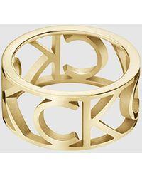 Calvin Klein Ring - Mania - Geel