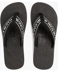 Calvin Klein - Flip-Flops mit Logo-Jacquardmuster - Lyst