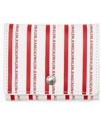 Calvin Klein Micro Trifold Portemonnee - Wit