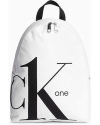 Calvin Klein Ronde Rugzak - Ck One - Wit