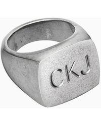 Calvin Klein Unisex Ring - Club - Metallic