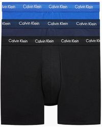 Calvin Klein Classic Fit Retro Pants im 3er-Pack - langes Bein - Blau