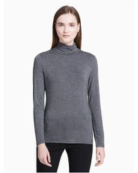 CALVIN KLEIN 205W39NYC - Rayon Stretch Turtleneck Sweater - Lyst