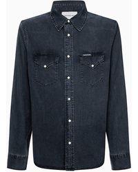 Calvin Klein - Patch Pocket Denim Shirt - Lyst