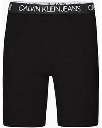 Calvin Klein Shorts de ciclista de punto milano - Negro