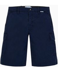 Calvin Klein Shorts cargo de sarga de algod�n - Azul