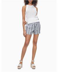 Calvin Klein Open Stitch Sleeveless Sweater - White