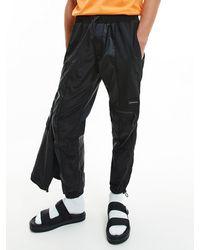 Calvin Klein Relaxed Nylon Cargo Trousers - Black