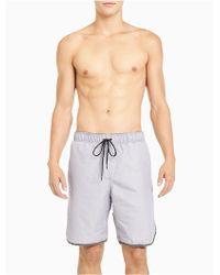 CALVIN KLEIN 205W39NYC - Logo Solid Board Shorts - Lyst